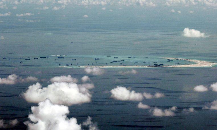 De Chinezen claimen Mischief Reef in de Spratly-eilanden in de Zuid-Chinese Zee.