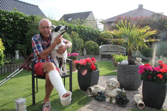 Kurt D'hulster en zijn hond Lies.