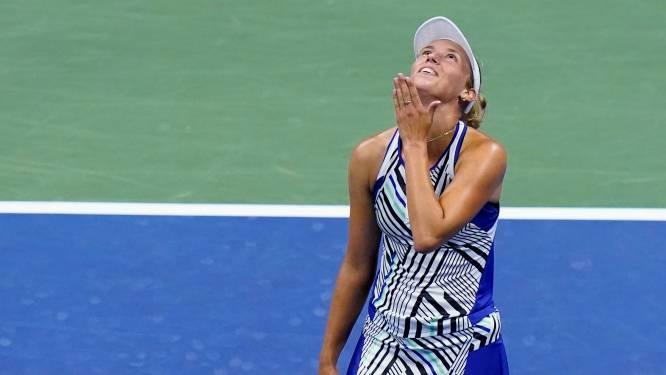 """Elise Mertens naar kwartfinales US Open na demonstratie tegen 's werelds nummer vier Kenin: """"Dit betekent veel voor mij"""""""