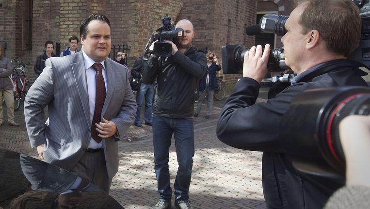 Minister van Financien Jan Kees de Jager arriveert voor de wekelijkse ministerraad. Beeld ANP