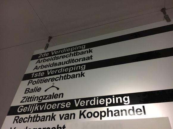 De politierechtbank in Kortrijk.
