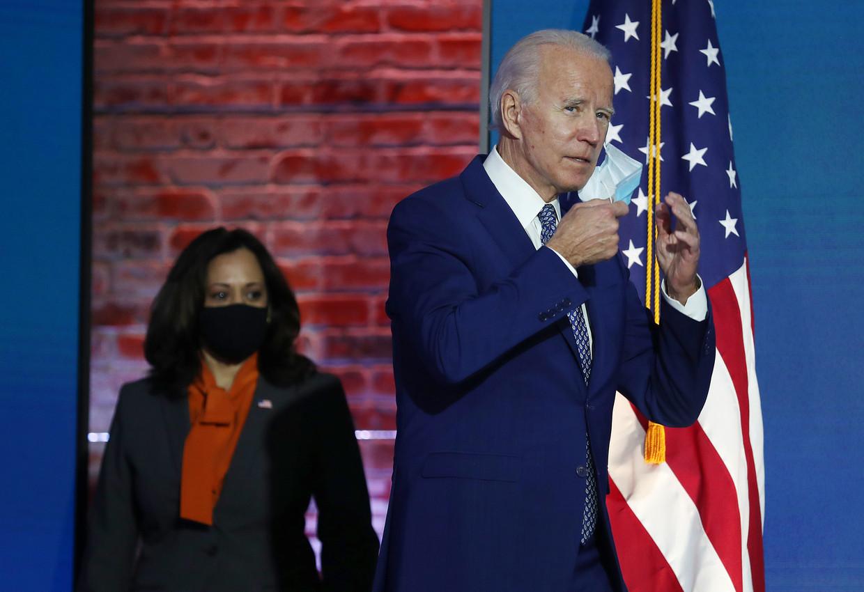 President- en vicepresident-elect Joe Biden en Kamala Harris. Beeld Getty Images