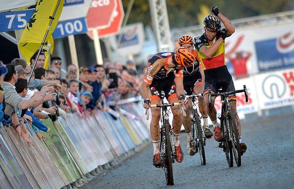 Van Aert won in 2014. Nys was razend en koelde zijn woede op de gedubbelde Jan Denuwelaere