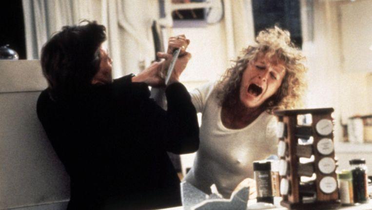 Michael Douglas en Glenn Close in Fatal Attraction. Beeld