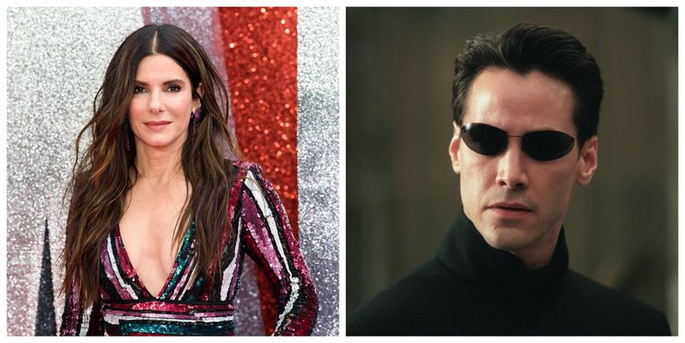 Sandra Bullock/Keanu Reeves als Neo in 'The Matrix'