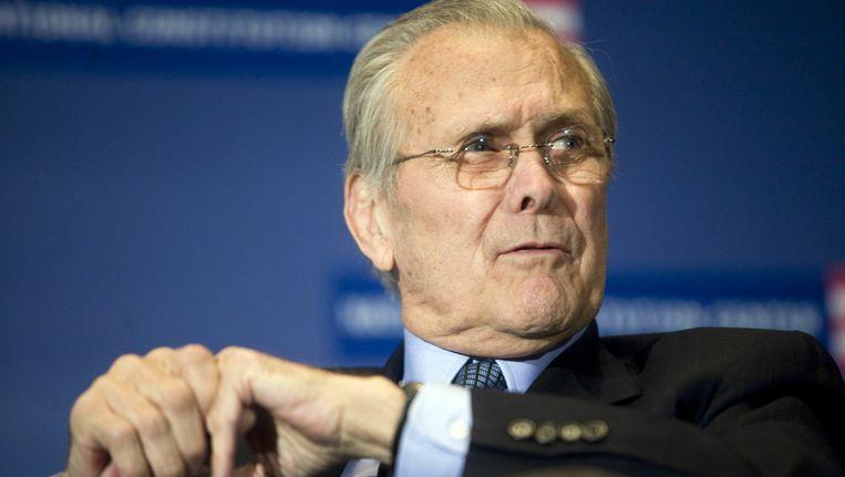 Donald Rumsfeld is verleden tijd. Beeld AFP