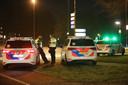 Jongeren kwamen eind januari naar de rotonde van de Drie Maagden in Apeldoorn om te protesteren tegen de avondklok.