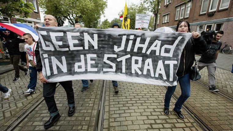 Een anti-jihadbetoging.
