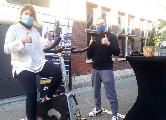 Lien Van de Perre en Stef Hooyberghs zetten alvast hun beste beentje voor bij Team NRG in Geel