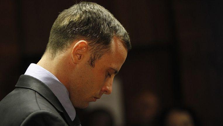 Pistorius in de rechtszaal, vandaag. Beeld reuters