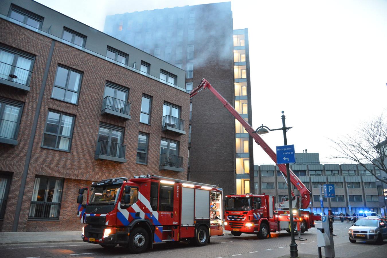 Brand in appartementencomplex aan Markendaalseweg in Breda