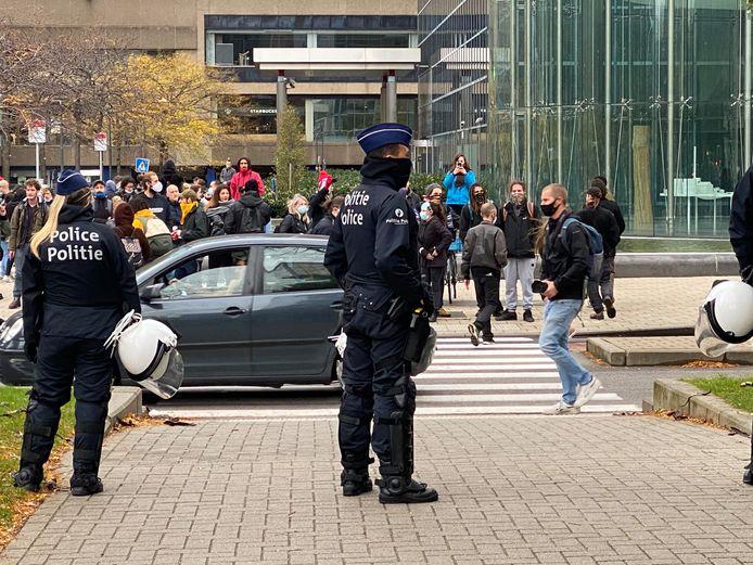 Beeld van een eerdere betoging in Brussel