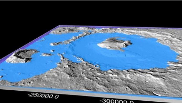 De Galekrater op Mars zou ooit vol water hebben gestaan.