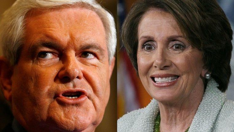 Newt Gingrich en Nancy Pelosi. Beeld UNKNOWN