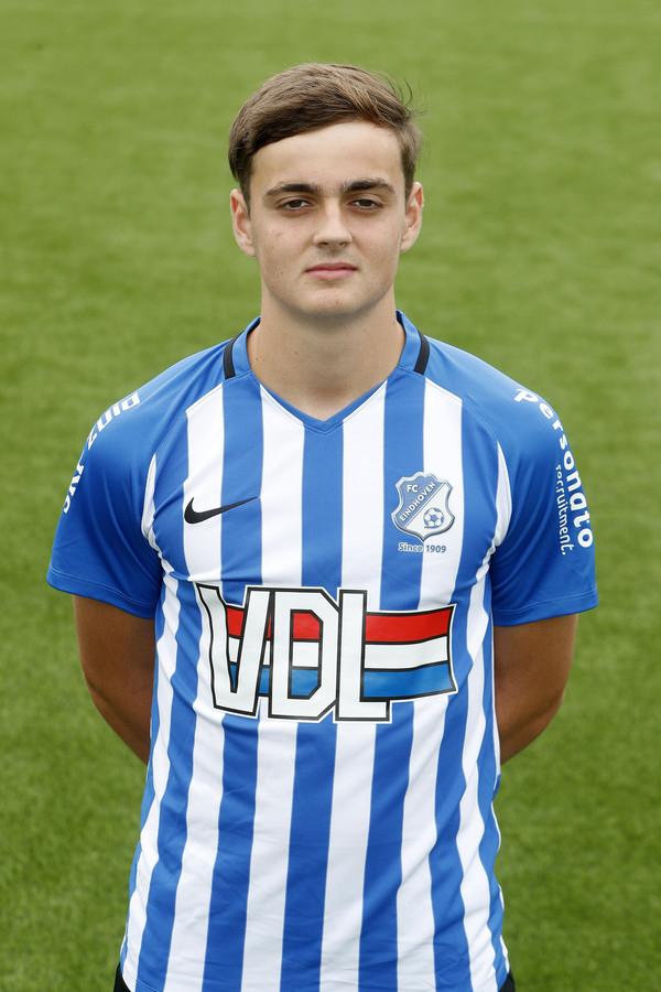 Kaj de Rooij maakte namens FC Eindhoven het enige doelpunt van de wedstrijd