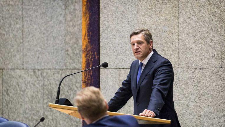 Sybrand Buma tijdens een debat in de Tweede Kamer. Beeld anp