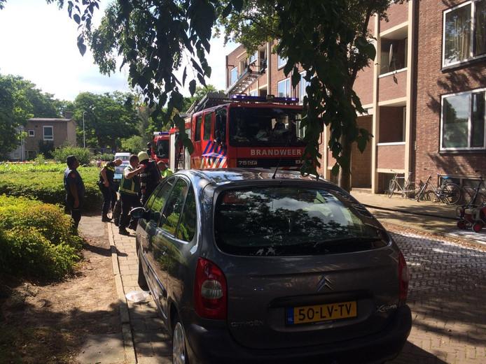 De brandweer rukte massaal uit