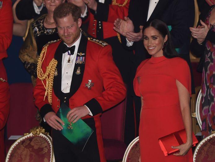 De hertog en hertogin kregen een staande ovatie.