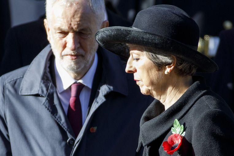 Jeremy Corbyn volgt Theresa May op als premier van het Verenigd Koninkrijk. Beeld AFP