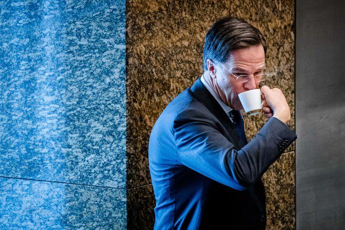 Mark Rutte (VVD) tijdens het debat in de Tweede Kamer over het eindverslag van informateur Mariette Hamer.