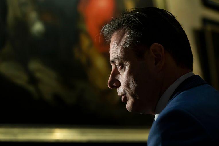 N-VA-kopstuk Bart De Wever. 'N-VA dreigt te radicaal te worden voor het centrum.' Beeld BELGA