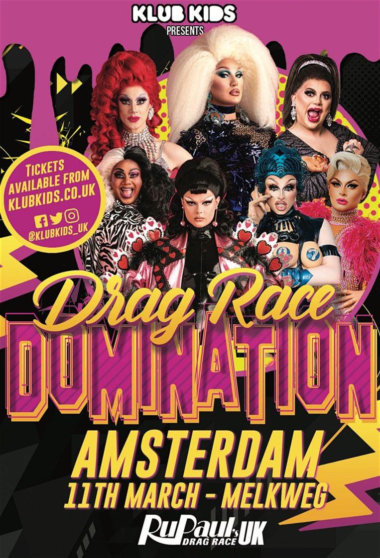 Drag Race Domination in de Melkweg in Amsterdam. Beeld Melkweg