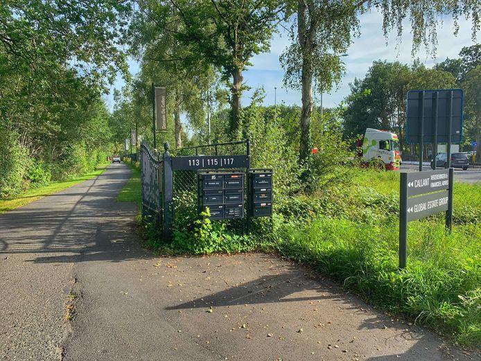 De nieuwe wandel- en fietsverbinding zal starten aan de huidige toegang tot het kasteeldomein De Cellen.