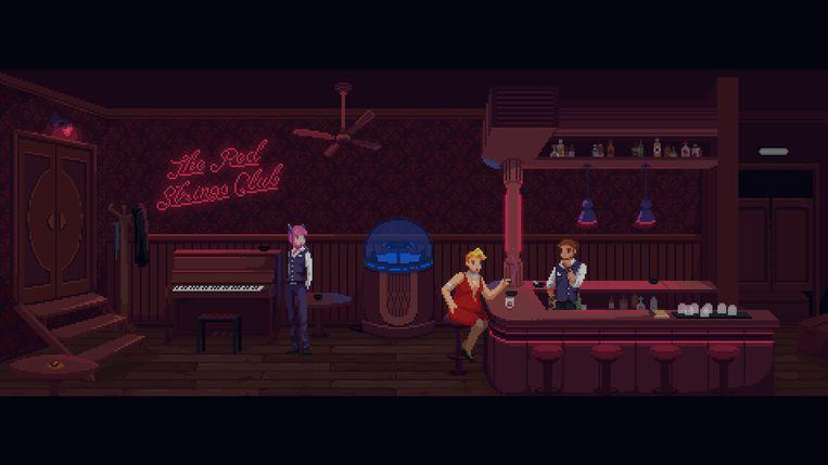 Het bejubelde 'The Red Strings Club' raakte slechts moeizaam aan een break-even. Beeld Devolver Digital