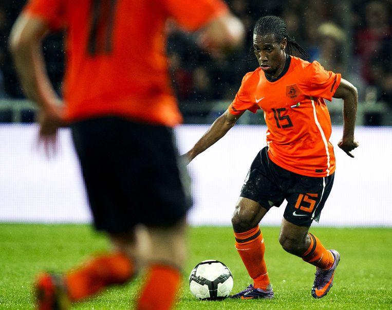 Vurnon Anita in één van zijn drie Oranje-interlands, tegen Mexico. Beeld anp