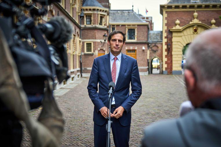 CDA-leider Wopke Hoekstra op het Binnenhof. Beeld ANP