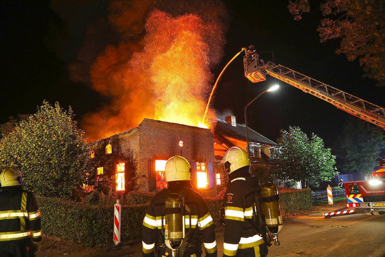 De brand in 2018 verwoestte een woning aan de Lietingstraat in Haren.