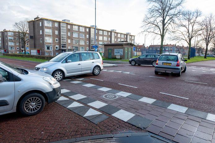 De kruising President Rooseveltlaan en Bloemenlaan in Vlissingen.