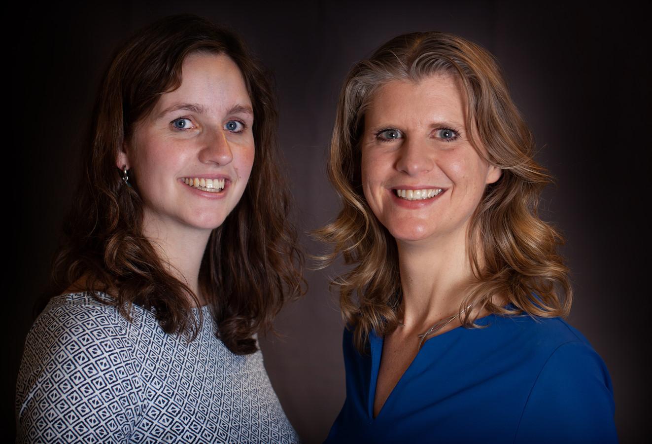 Mariëtte Boon (l) specialiseert zich in 'bruin vet', Liesbeth van Rossum is hoogleraar obesitas.
