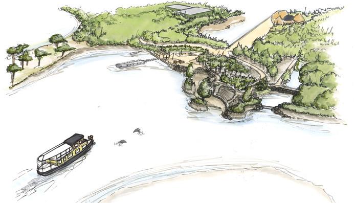 Het nieuwe verblijf voor de zeeleeuwen in Safaripark Beekse Bergen