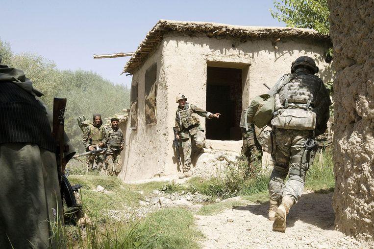 Het Nederlandse leger raakte in 2007 meerdere malen verwikkeld in felle vuurgevechten met de Taliban. Beeld ANP