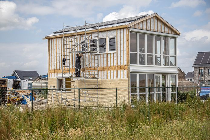 Nieuwbouw in de Zwolse wijk Stadshagen.