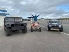 Oud-Oldenzaler Niek Oude Luttikhuis verkoopt één van z'n speeltjes, de speciale Bombardier Dakar Quad