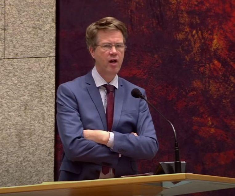 Martin Bosma spreekt in de Tweede Kamer. Beeld Tweede Kamer