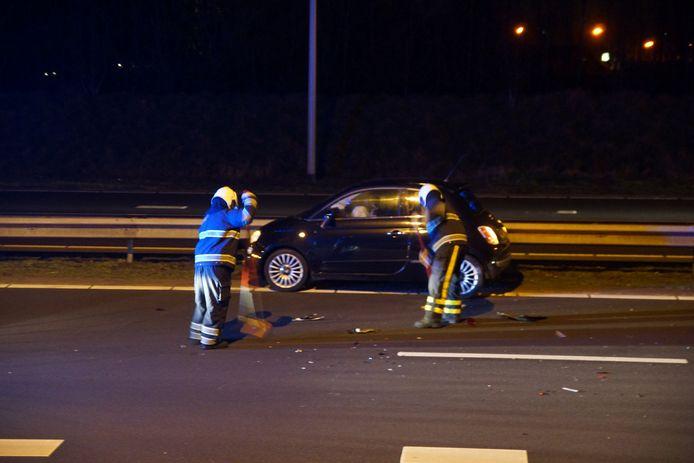 Meerdere auto's waren betrokken bij het ongeval rond 20.00 uur.