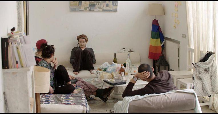 Still uit de documentaire Upon the shadow over een lhbti+-woongroep in Tunesië.  Beeld Nada Mezni Hafaiedh