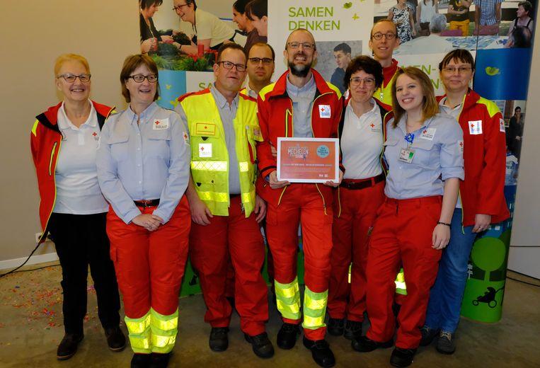 Het Rode Kruis Mechelen-Bonheiden ontving de Prijs voor de Vrijwilliger voor verenigingen.
