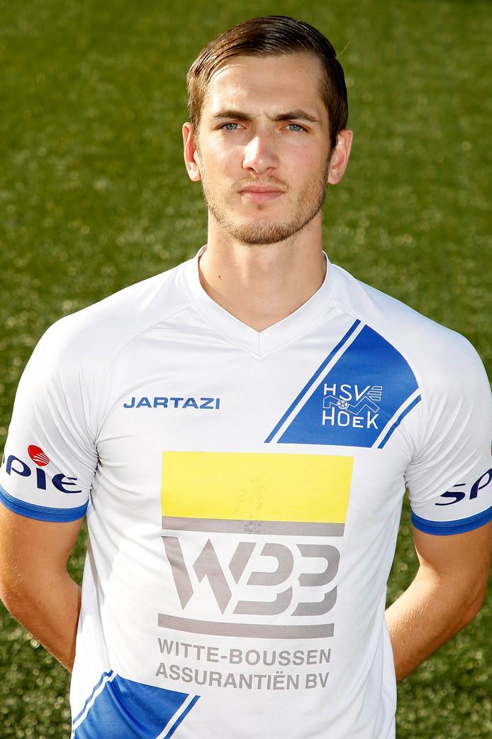 Ruben de Jager scoorde zaterdag voor Hoek en leidde een tweede doelpunt in.