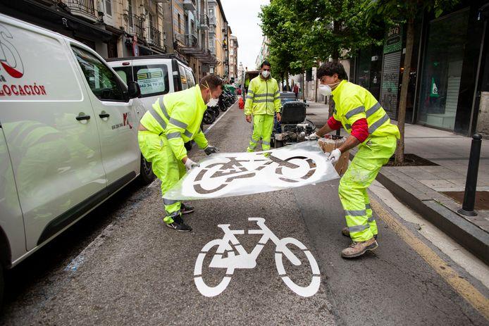 In Cantabria worden wegen omgetoverd in fietspaden.