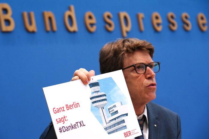 Lütke-Daldrup tijdens de persconferentie.