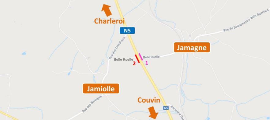 La circulation va être perturbée sur la N5 entre Charleroi et Couvin
