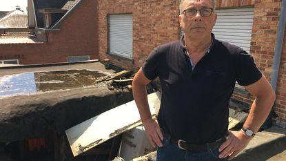 Aan dood ontsnapt bij instorting dak