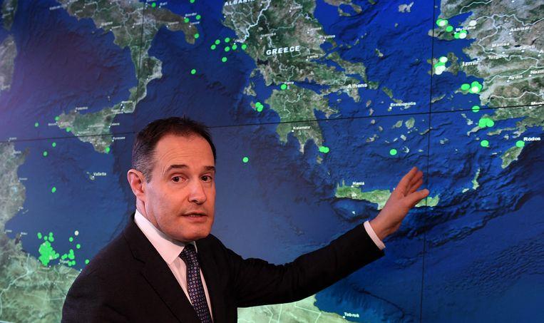 Fabrice Leggeri, het hoofd van de EU-grenswachtdienst Frontex. Beeld Hollandse Hoogte / AFP