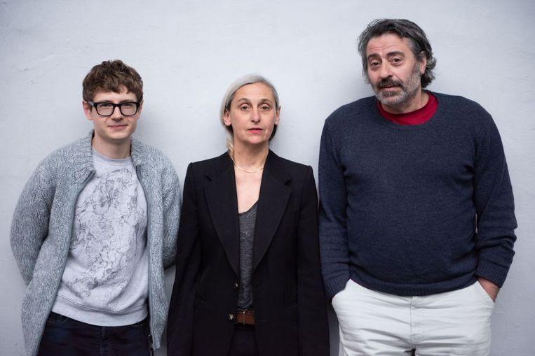 Pavel Kolesnikov, Anne Teresa De Keersmaeker en Alain Franco. Beeld rv