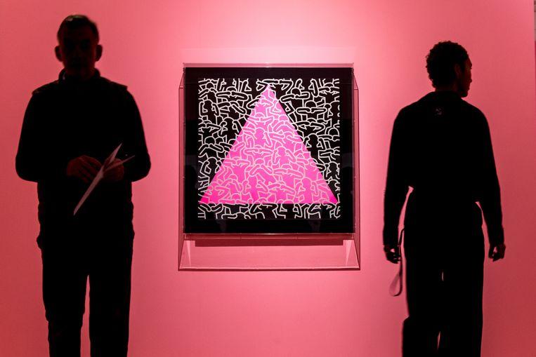 De expo over Keith Haring in de Brusselse Bozar is een kunstwerk op zich. Beeld Reporters / GYS