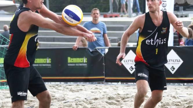 """Jente en Seppe De Keyser halen in Leuven Beach voor tweede keer op rij een derde plaats: """"Zeer tevreden met dit resultaat"""""""